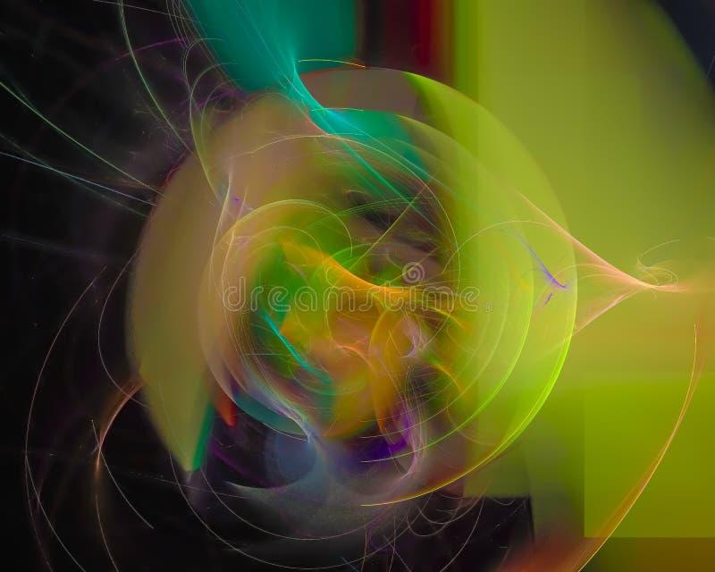 抽象分数维,独特的纹理幻想设计,党,迪斯科模板 向量例证