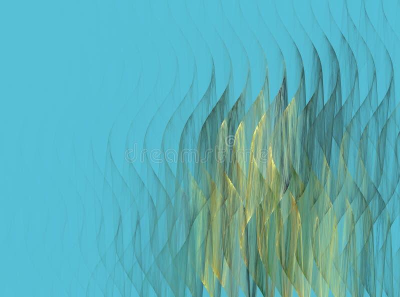 抽象分数维波动图式 向量例证