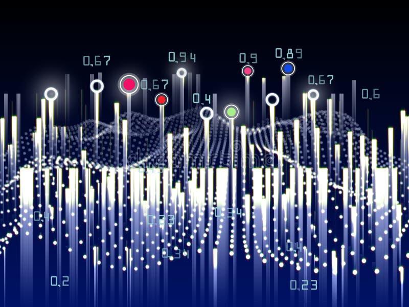 抽象分析infographics背景 r infographic计算的算法人为的密码学 向量例证