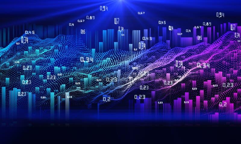 抽象分析infographics 数据的明亮的流程 r 图库摄影
