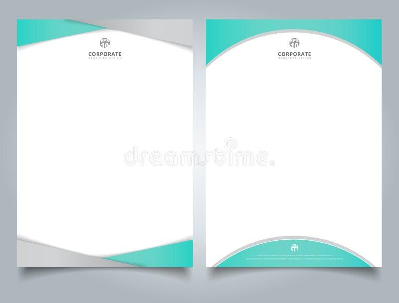 抽象创造性的信头设计模板浅兰的颜色ge 库存例证