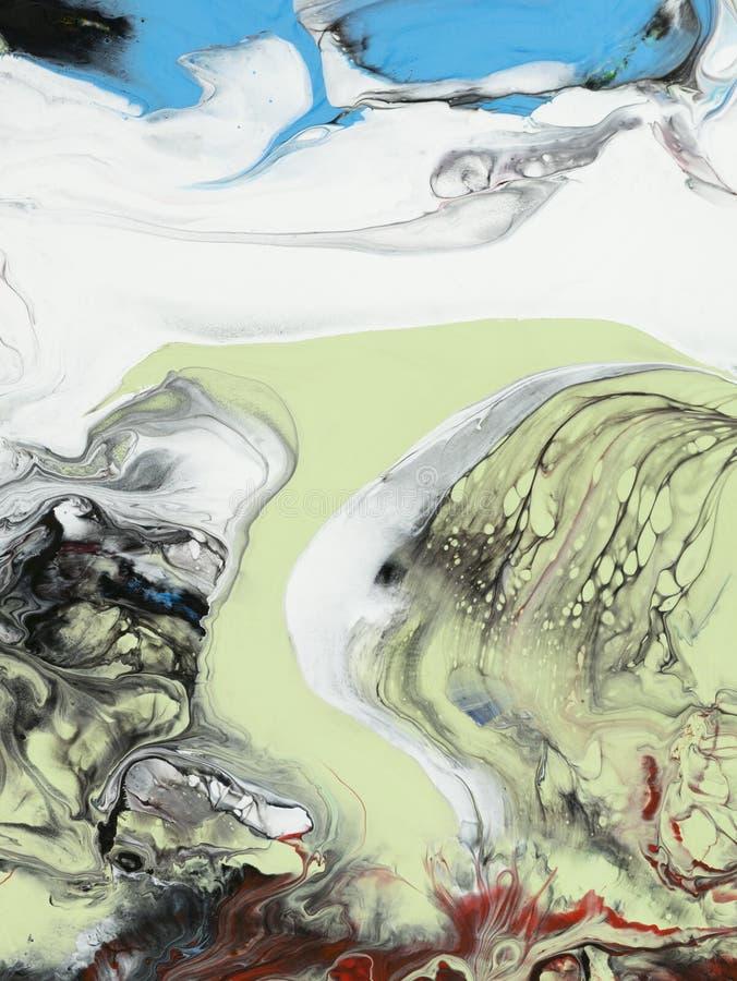 抽象创造性的手画背景 皇族释放例证
