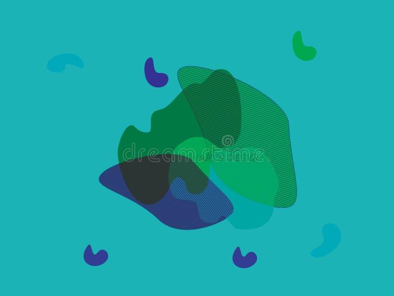 抽象动态形状传染媒介设计 库存例证