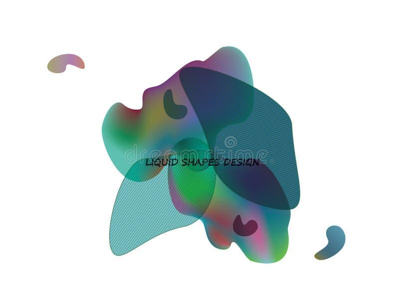 抽象动态形状传染媒介设计 皇族释放例证