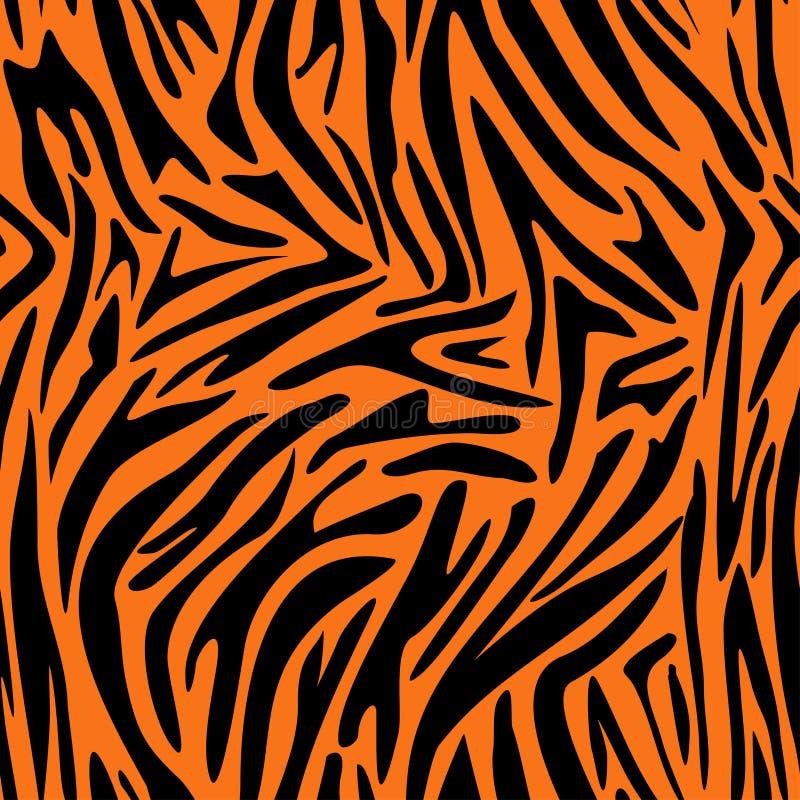 抽象动物皮毛样式 斑马,老虎条纹 向量例证