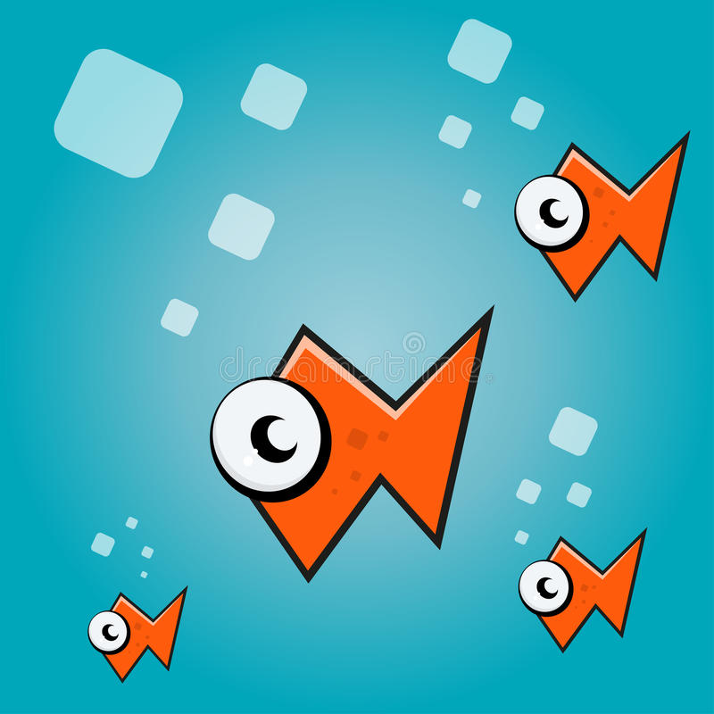 抽象动画片鱼 向量例证