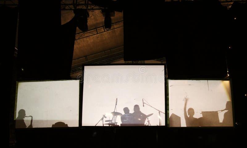 抽象协调的乐曲 库存照片