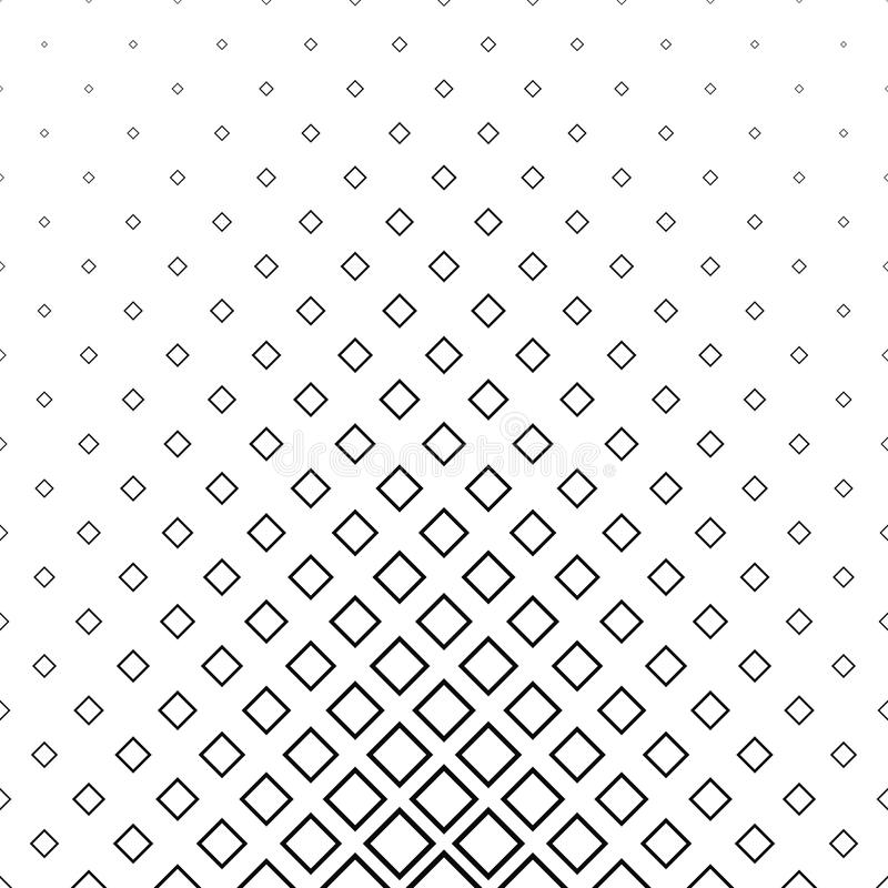 抽象单色线正方形样式 库存例证