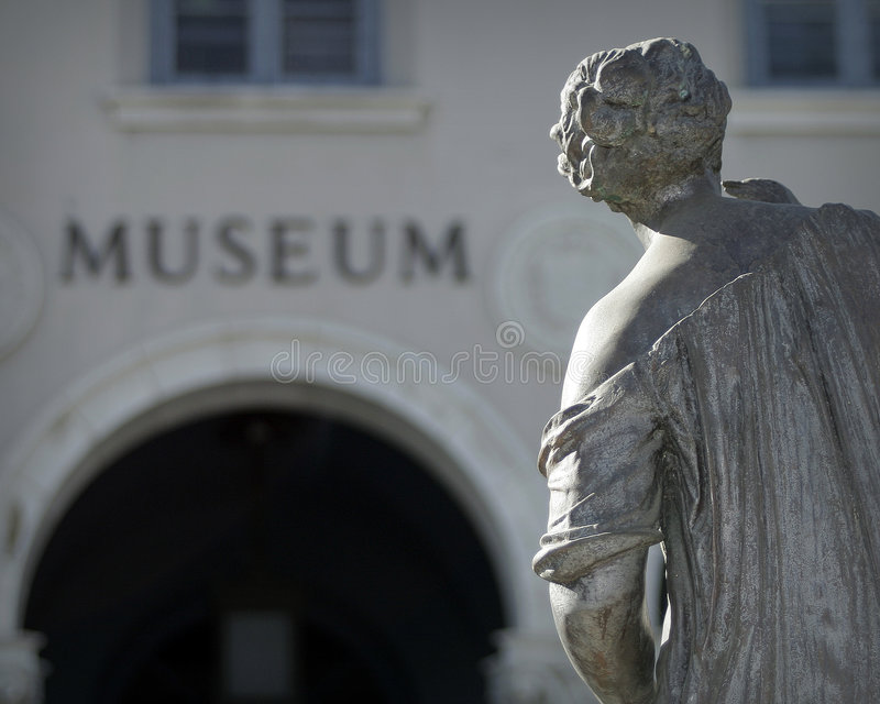 抽象博物馆雕象 免版税库存照片