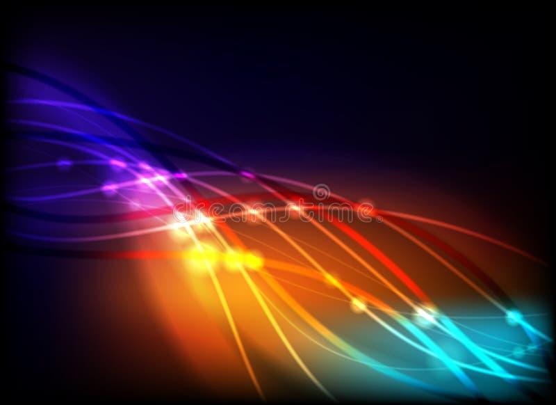抽象发光的光 库存例证