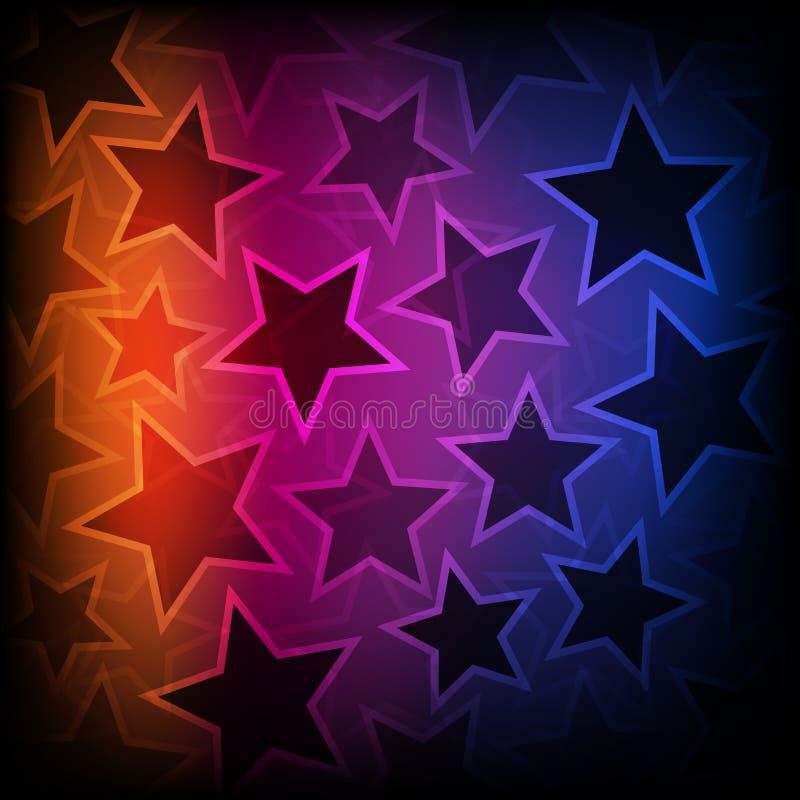 抽象发光的星背景 库存例证