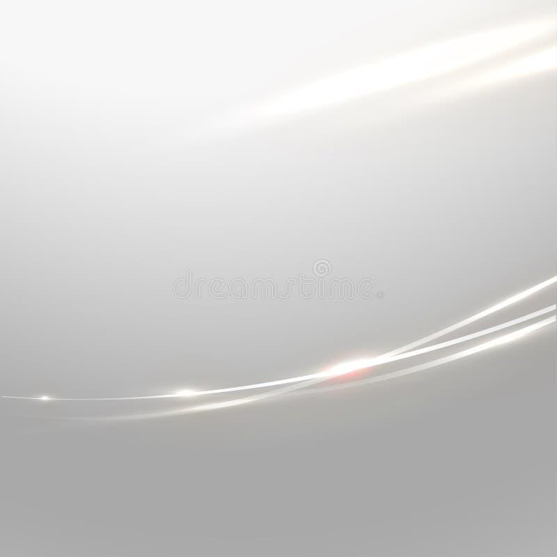 抽象发光的曲线线和流程背景 库存例证