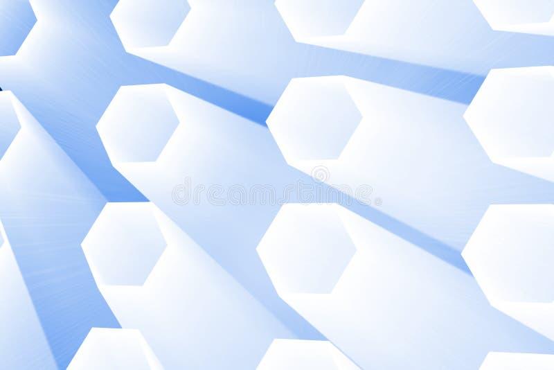 抽象发光的栅格 库存例证