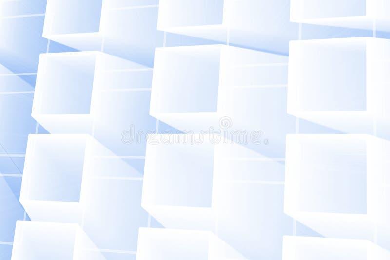 抽象发光的正方形 向量例证