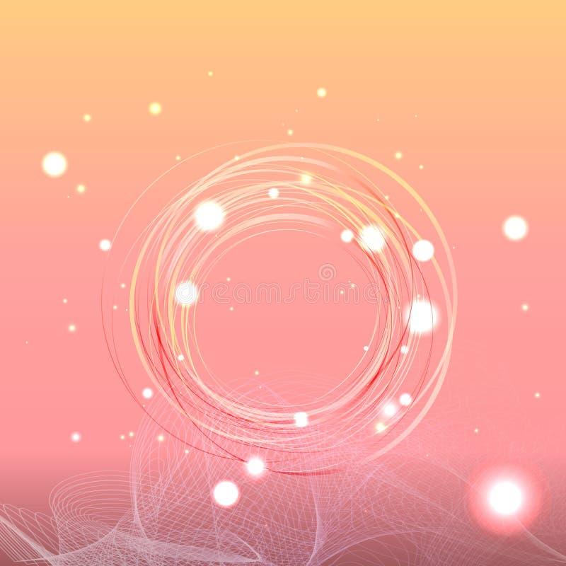 抽象发光的背景,创造性的掩蔽物 库存例证