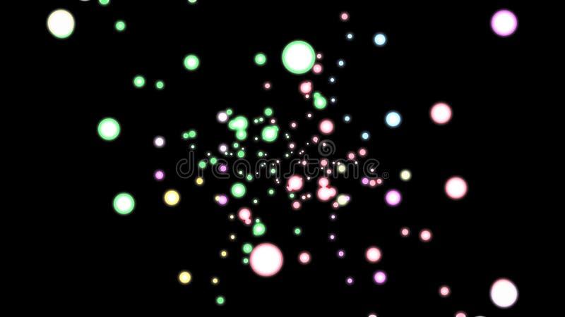 抽象发光的色的飞行盘旋赋予生命的背景动画新的质量假日普遍行动动力学 向量例证