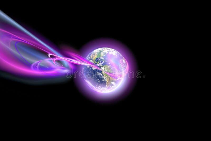 抽象发光的范围 向量例证