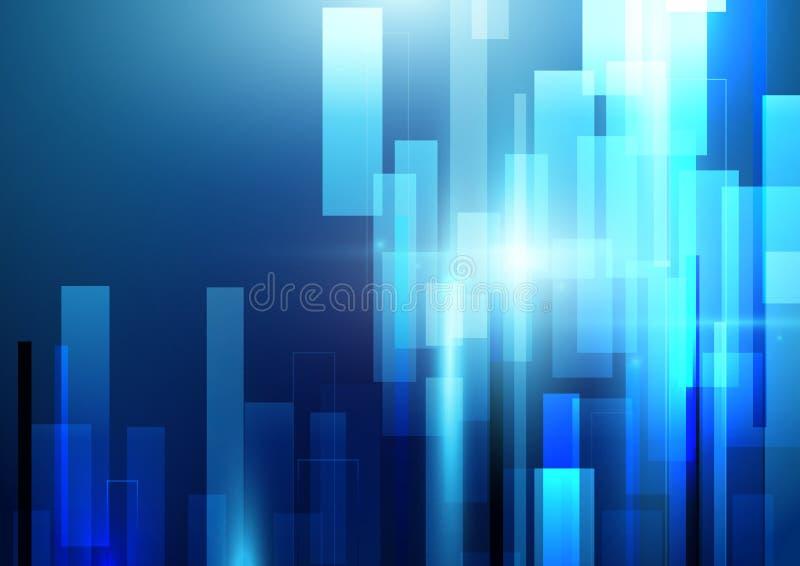抽象发光的高科技行动几何形状背景.