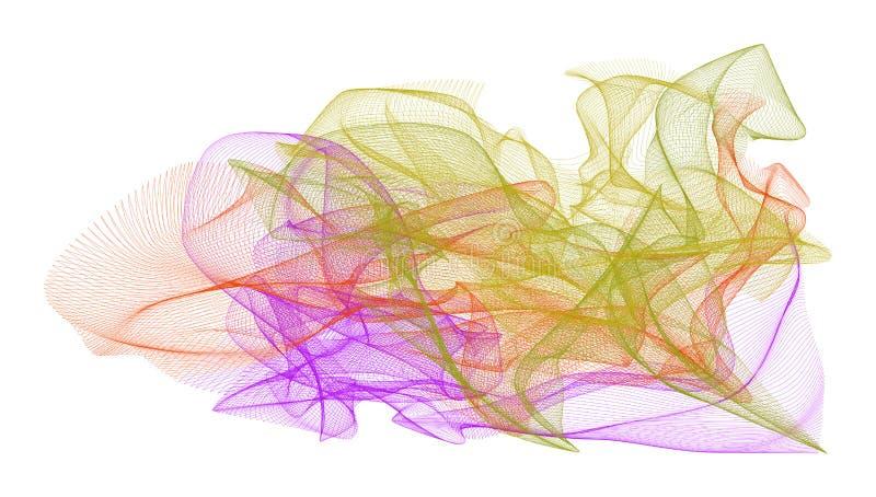 抽象发烟性线艺术例证背景 图表、设计、传染媒介&表面 向量例证
