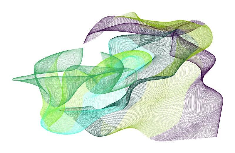抽象发烟性线艺术例证背景 装饰,表面,软&生产 向量例证