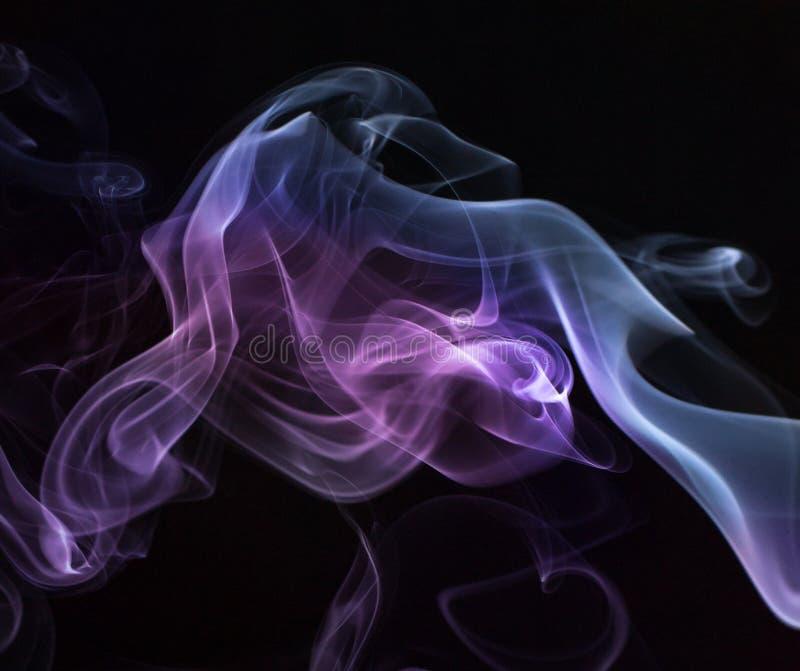 抽象发烟漩涡 库存图片