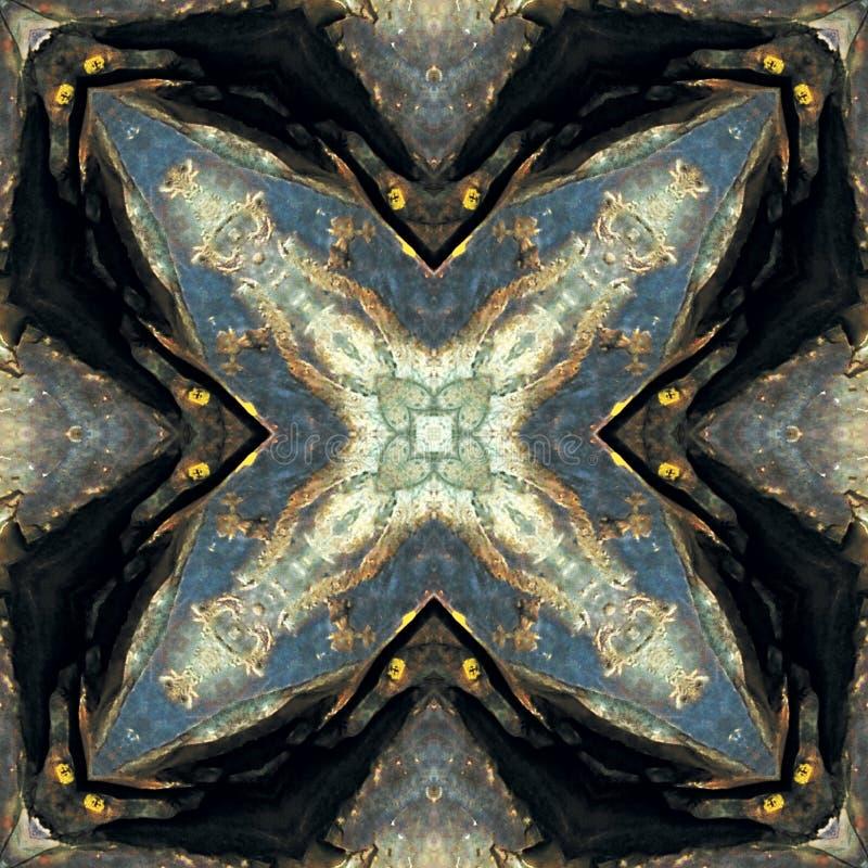 抽象古老图岩石 库存图片