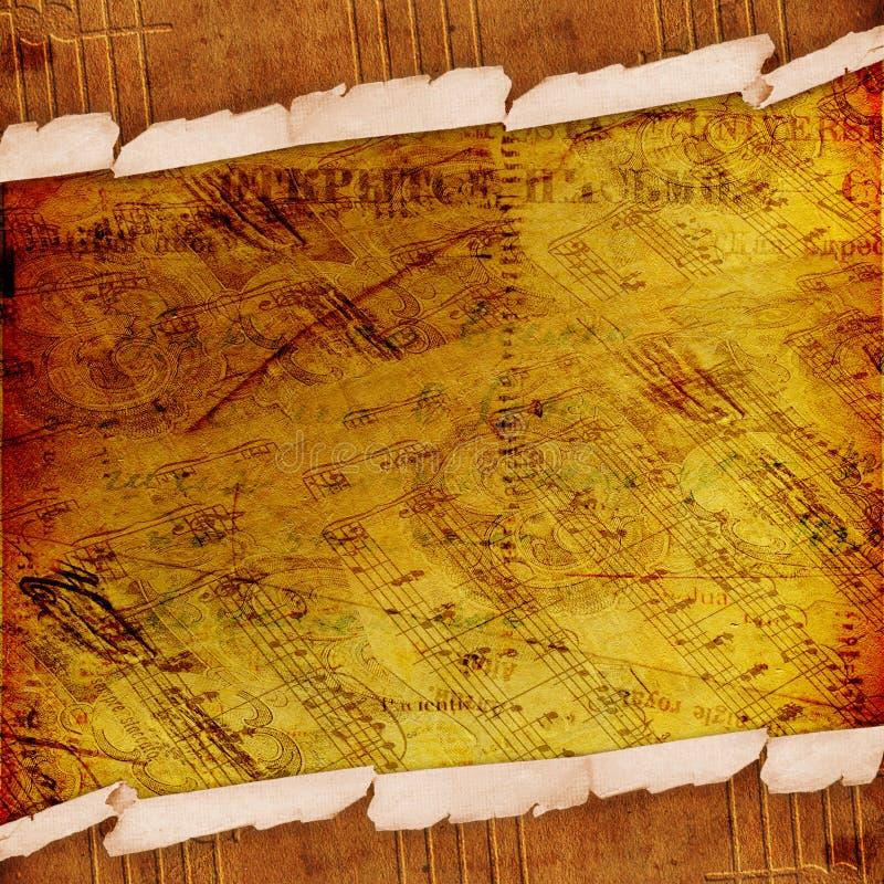 抽象古老背景信函 皇族释放例证