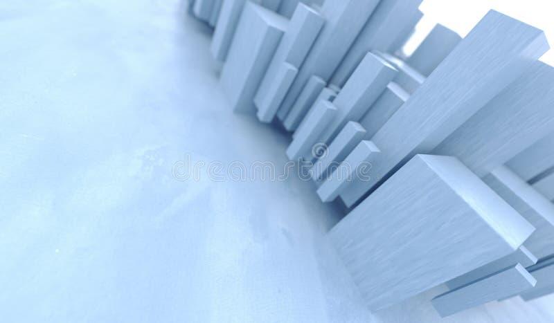 抽象另外大小求特写镜头的立方 向量例证