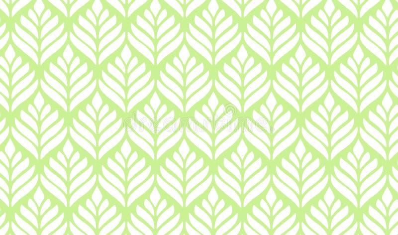 抽象叶子样式无缝的叶子背景 库存例证