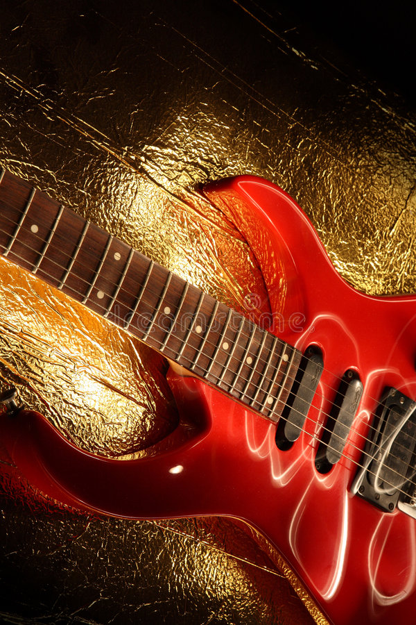 抽象吉他音乐主题 库存照片