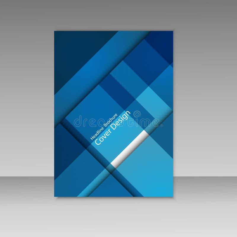 抽象向量图形,美好的小册子模板 套名片、汇集盖子和背景 库存例证