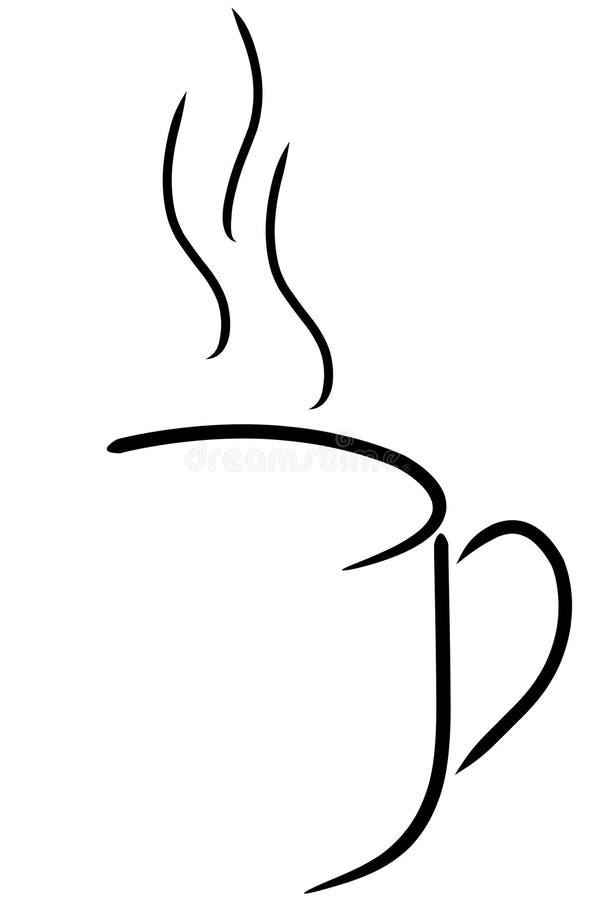 抽象咖啡杯 向量例证