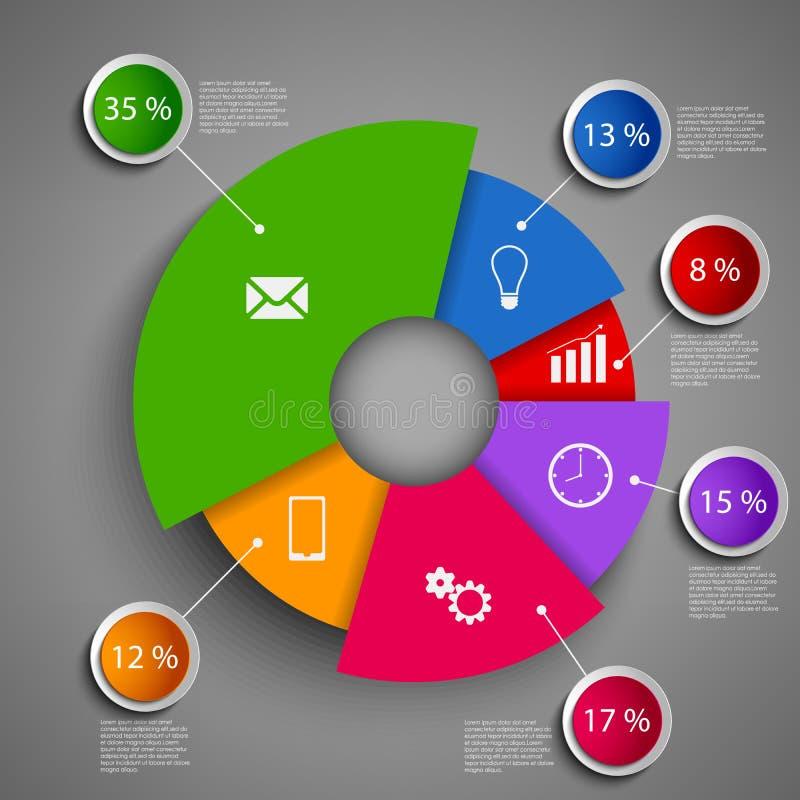 抽象回合信息图形设计模板 向量例证
