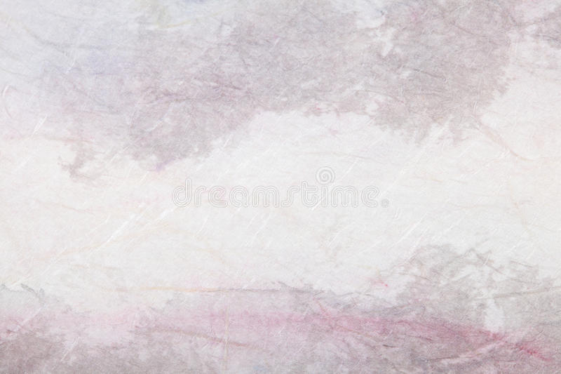 抽象国画(山风景)在纸 库存图片
