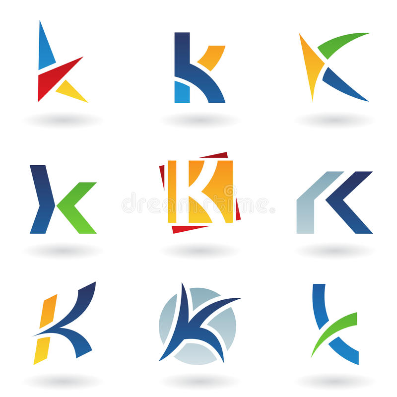 抽象图标k信函 皇族释放例证