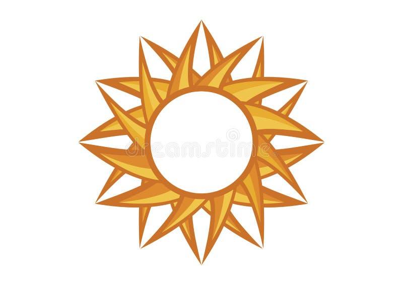 抽象图表回合黄色太阳传染媒介 向量例证