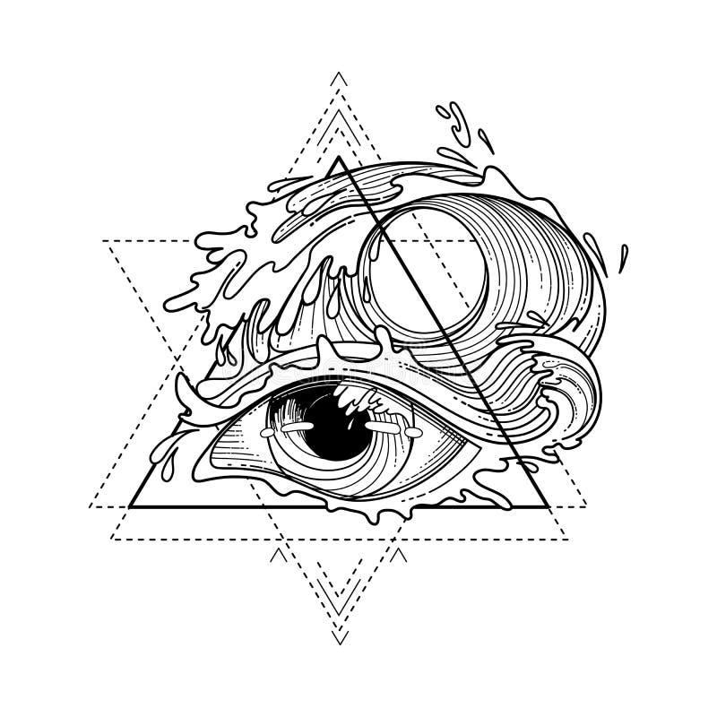 抽象图表眼睛 皇族释放例证