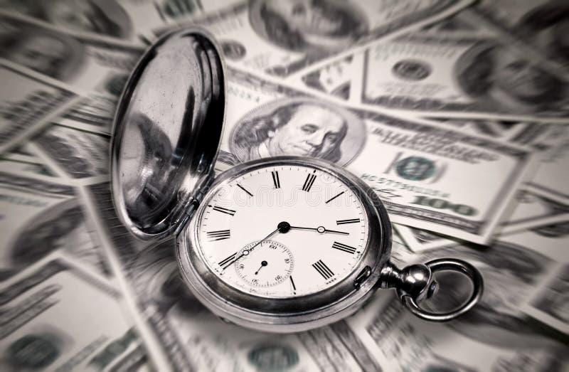 抽象图象,时间是金钱 免版税库存照片