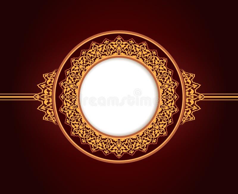 抽象圆框架设计 向量例证