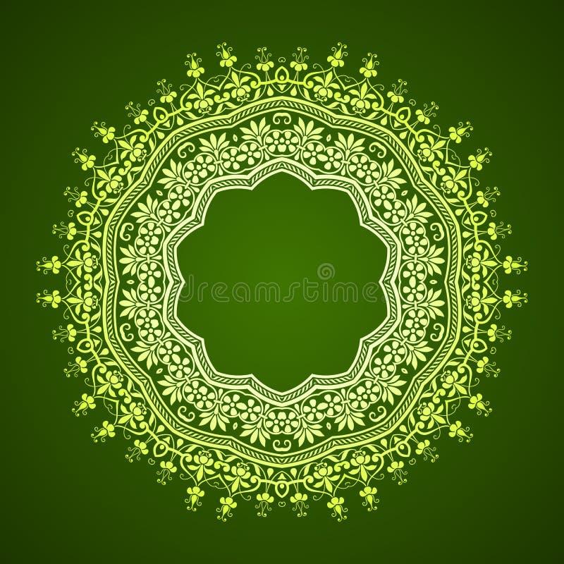 抽象圆框架设计 皇族释放例证