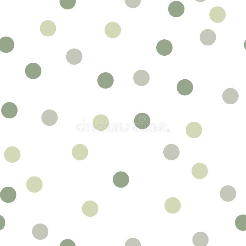 抽象圆点传染媒介无缝的背景 向量例证
