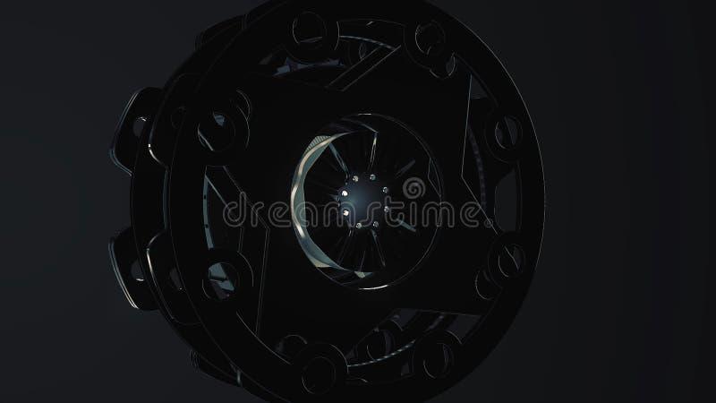 抽象圆的动画,与圈子的高科技仿效 未来派作用 中央视域把技术引入 向量例证