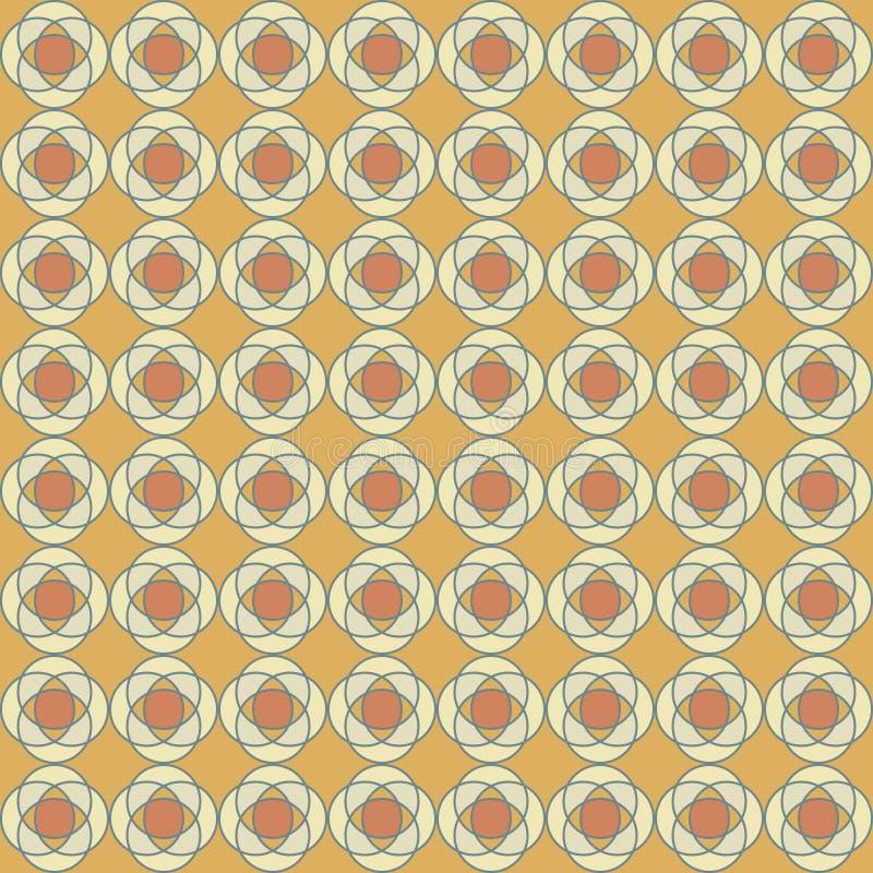 抽象圆的星的传染媒介无缝的样式 向量例证