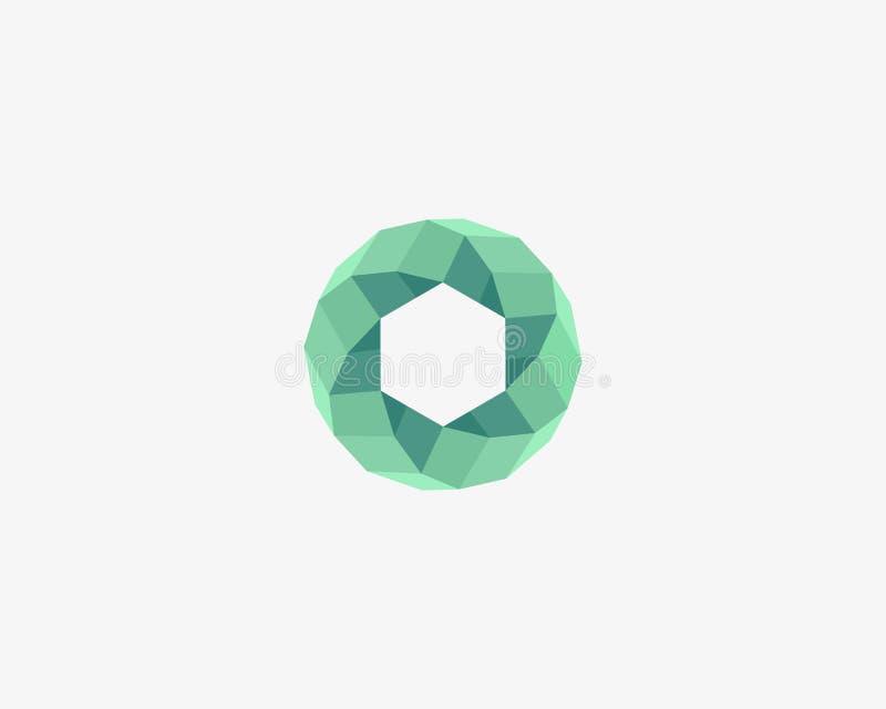 抽象圆的漩涡商标设计 普遍几何螺旋传染媒介略写法 皇族释放例证