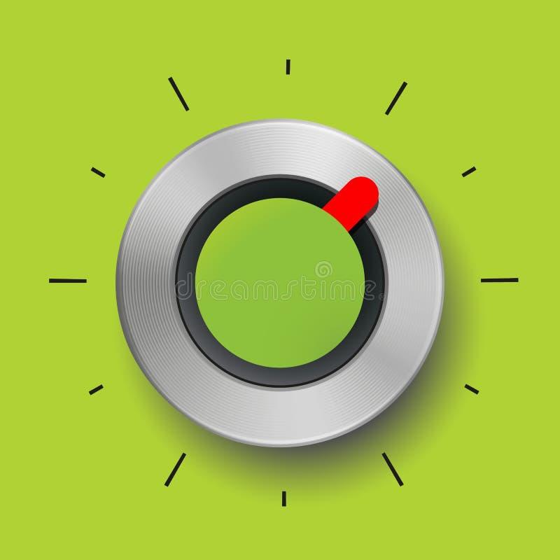 抽象圆的金属纹理绿色条频器红色箭头 皇族释放例证