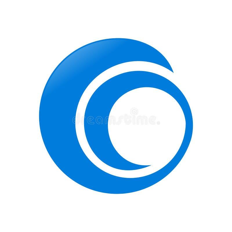 抽象圆螺旋Swoosh标志商标设计 库存例证