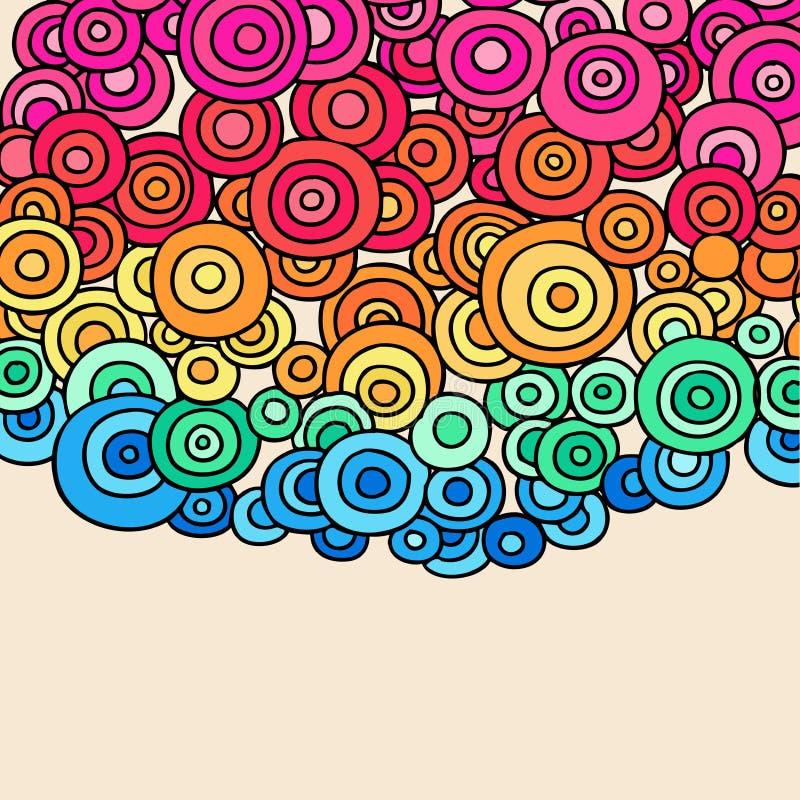 抽象圈子乱画无刺指甲花向量 库存例证