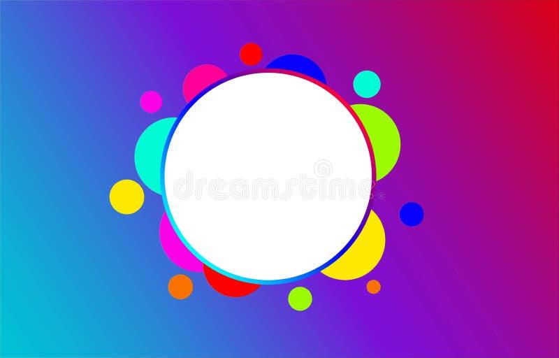 抽象圈子传染媒介背景,现代设计,美好的概念,五颜六色的圈子,最佳的设计 向量例证