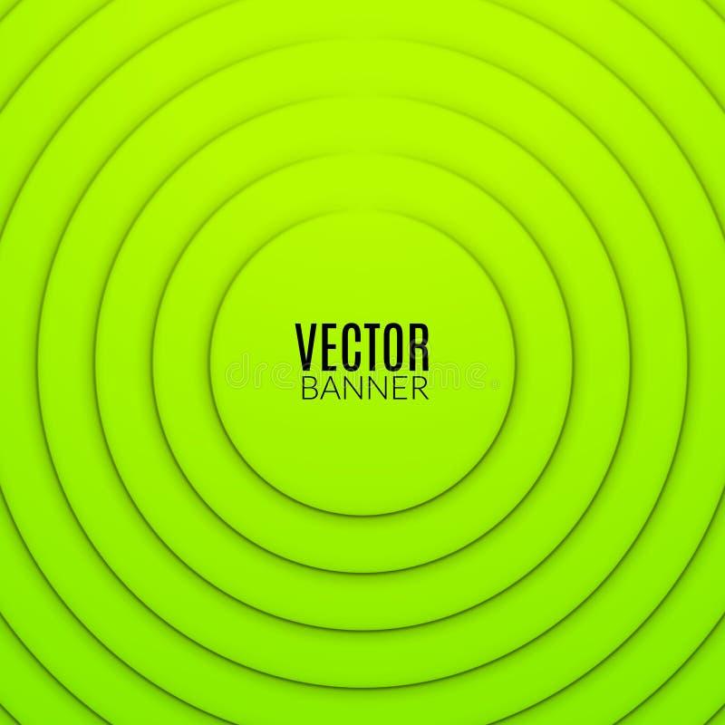 抽象圈子圆的波浪设计模板 五颜六色的漩涡布局 库存例证