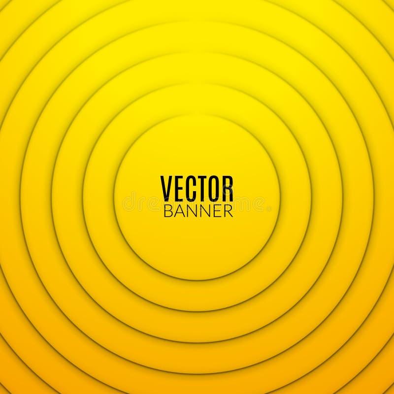 抽象圈子圆的波浪设计模板 五颜六色的漩涡布局 皇族释放例证